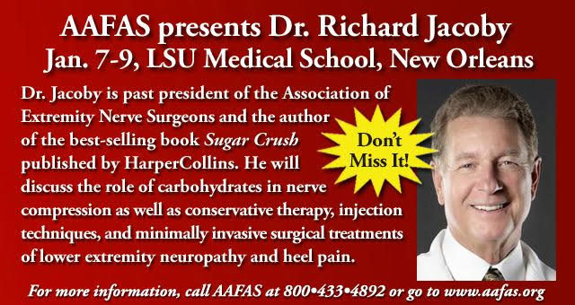 AAFAS presents Dr. Richard Jacoby Jan 7-9, LSU Medical School, New Orleans, call AAFAS at 800-433-4892 for more information